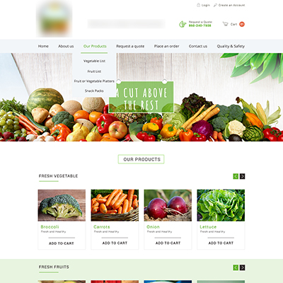 Fruits & Vegs Website